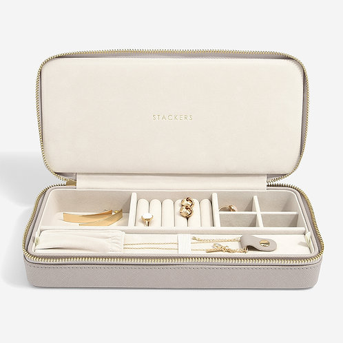 Stackers Taupe Sleek Necklace Travel Jewellery Box