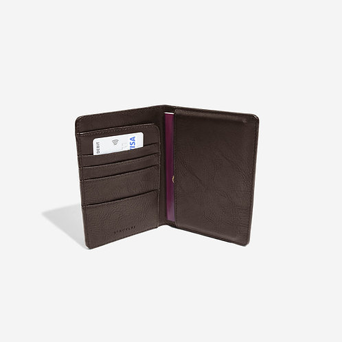 Stackers Brown Passport Holder