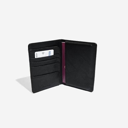 Stackers Black Passport Holder