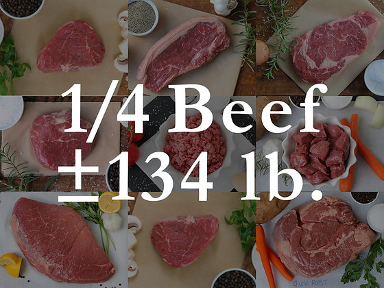 1/4 Beef Bundle Box