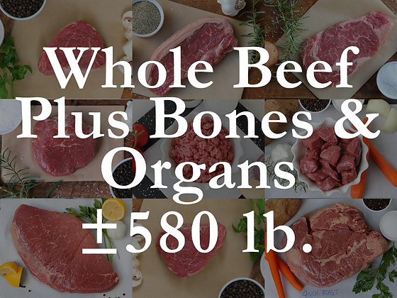 Pre-Sell: Whole Beef w/ Organs & Bones Bundle Box