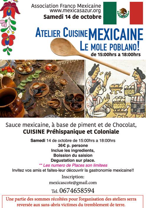 Atelier cuisine traditionnelle Mexicaine