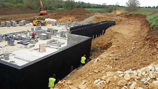RSS waterproofing foundation retaining wall