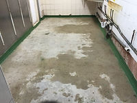 RSS before polyscreed repaired floor