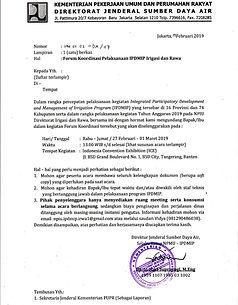 Surat Undangan Forum Koordinasi IPDMIP I