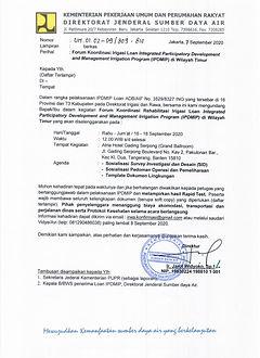 Undangan Forum Koordinasi IPDMIP IRWA wi