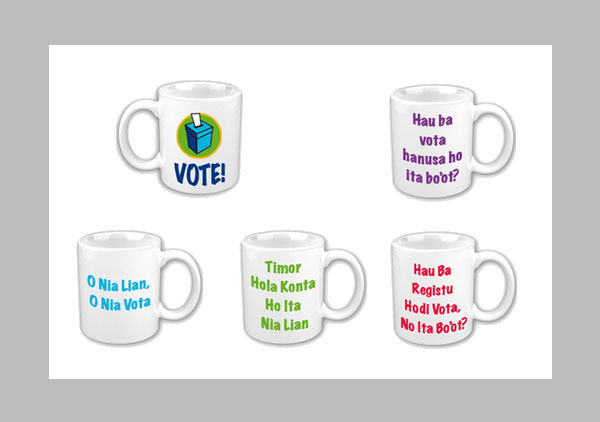 Election vote mugs