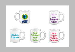 Election vote mugs