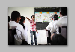 Training session with flip chart