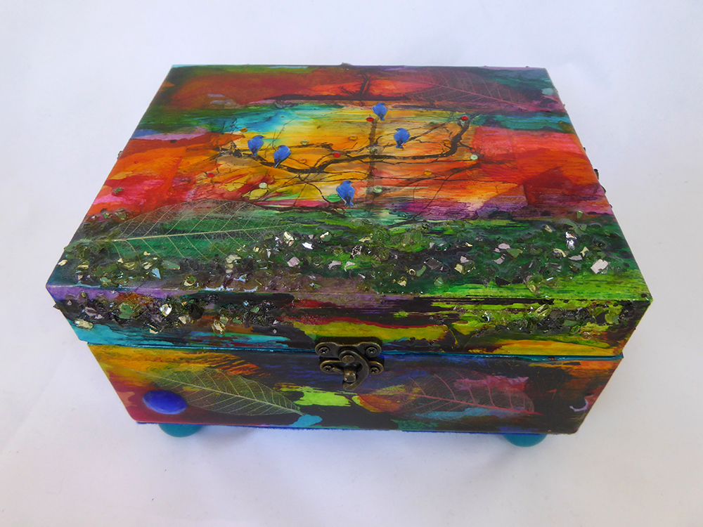 Jewelry Box - Bluebird design