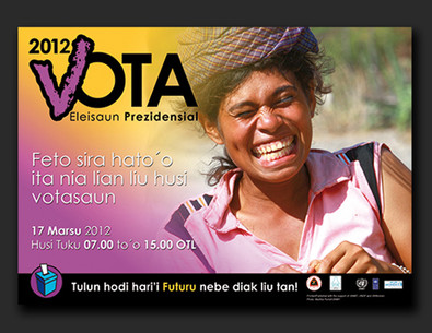 Timor-Leste Presidential Election campaign 2012 - posters