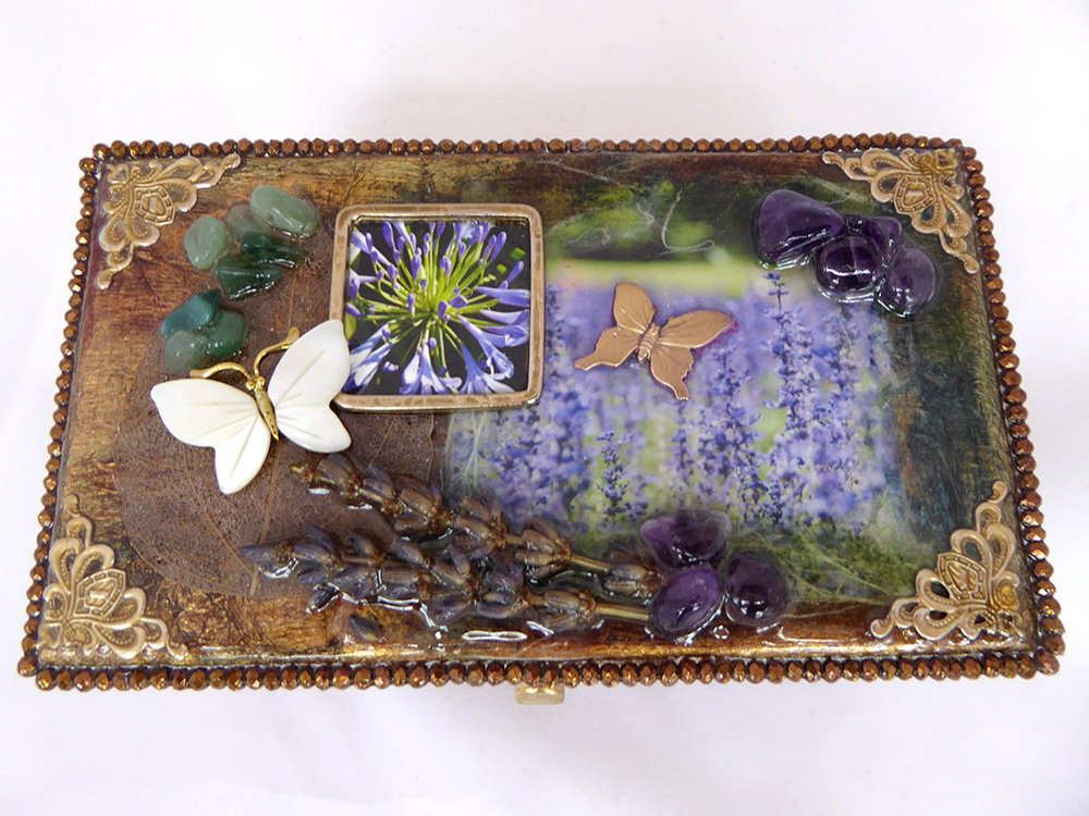 Lavender Jewelry Box – Top view