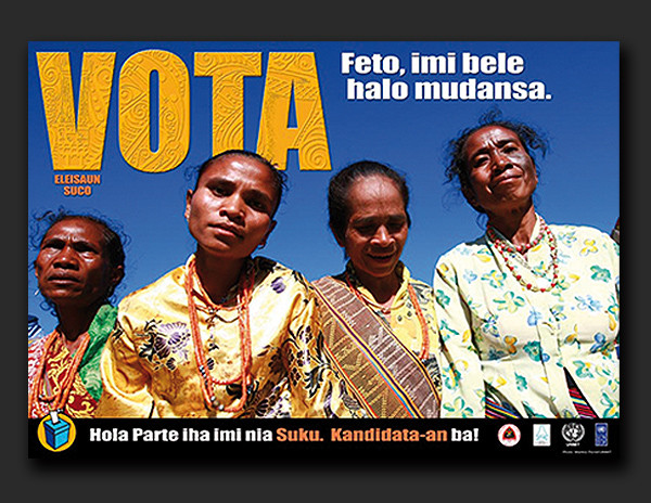 Timor-Leste Community Leaders Election 2009 - posters & leaflets