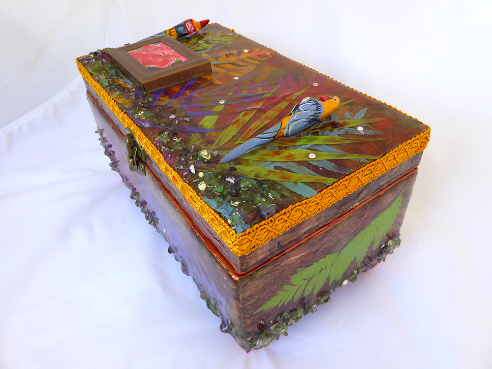 Tropical Jewelry Box - side