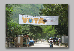 Presidential Election vote banner