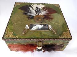 Jewelry Box - Dove & Ammonite design