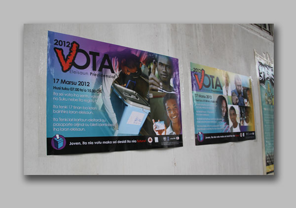 Youth election campaign posters