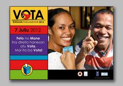 Gender emphasis vote poster