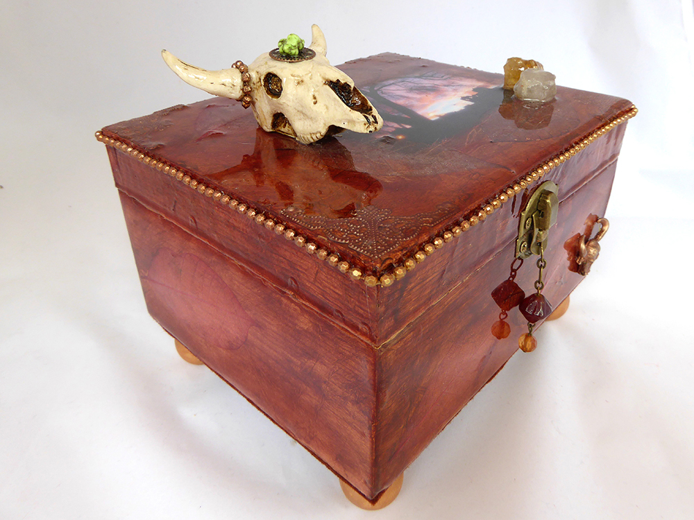 New Mexico Jewelry Box – Side View