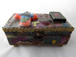 Jewelry box -Cross & Sacred Heart