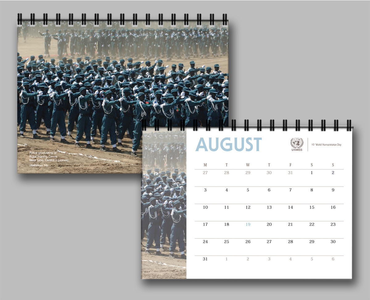 United Nations Mission in South Sudan (UNMISS) calendar 2015
