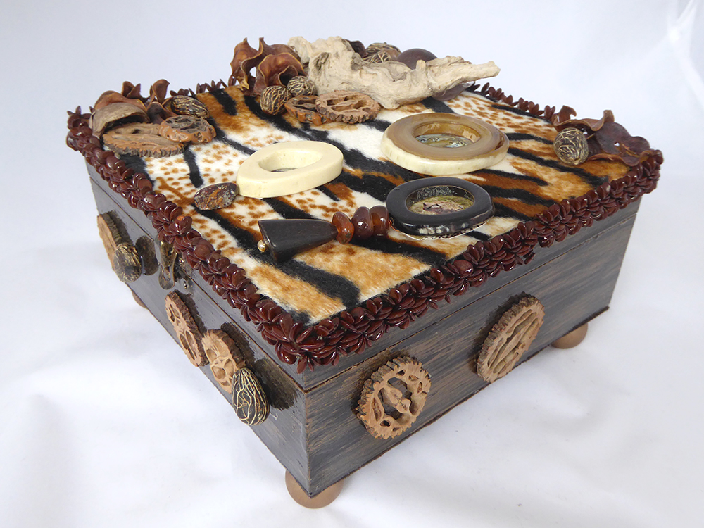 African Safari Jewelry Box – Side