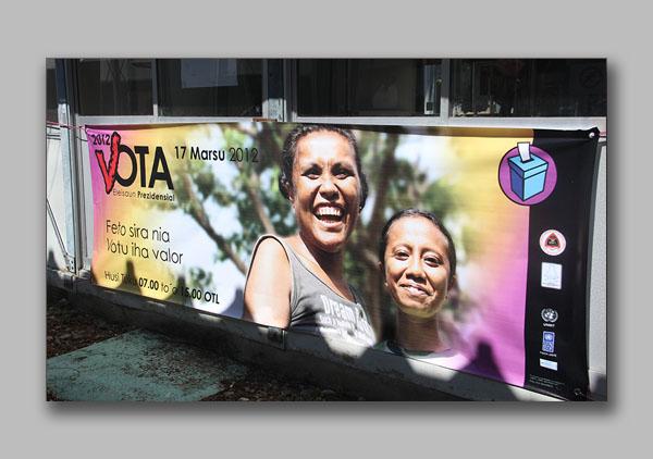 Election gender campaign banner