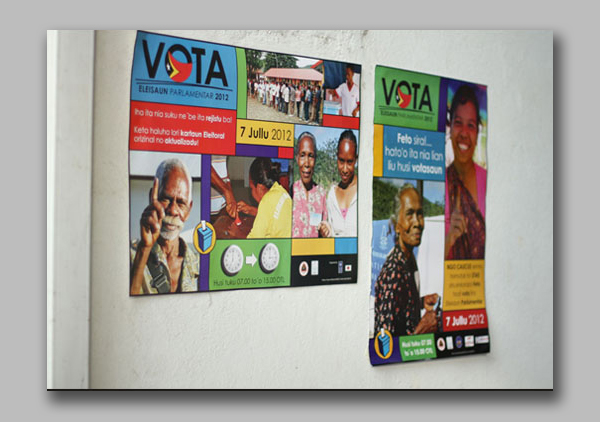 Parliament election vote posters