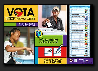 Timor-Leste Parliament Election campaign 2012 - posters