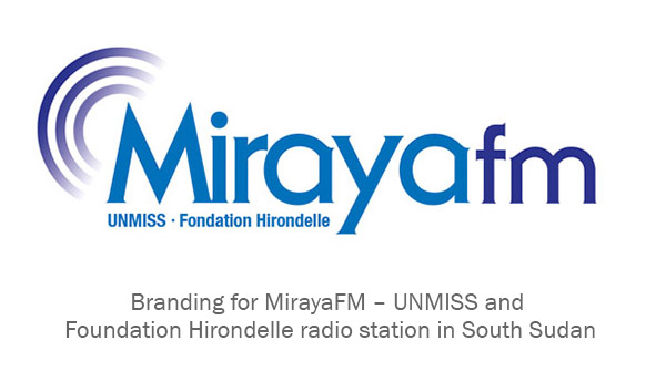 South Sudan MirayaFM Radio branding