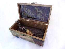 Hummingbird Jewelry Box - interior
