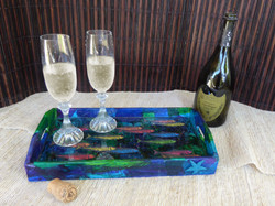 Sardine Serving Tray-in setting