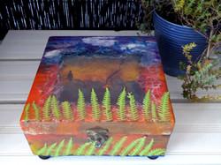 Sunset birds decorative box
