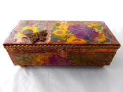 Sunflower decorative jewelry box