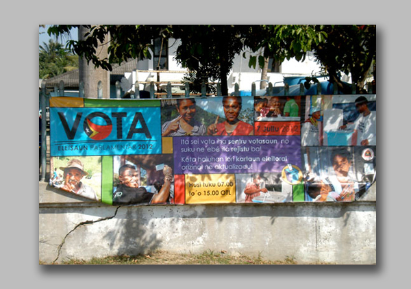 Parliament Election vote banner