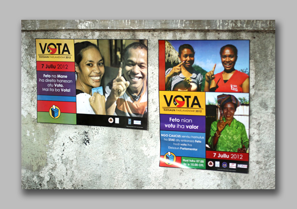 Gender emphasis vote posters