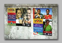 Gender emphasis vote posters