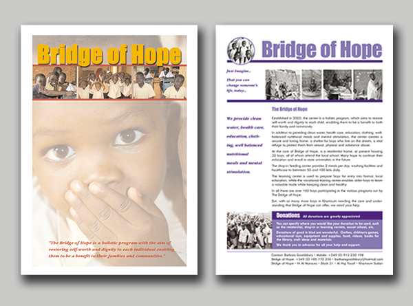 Bridge of Hope marketing kit