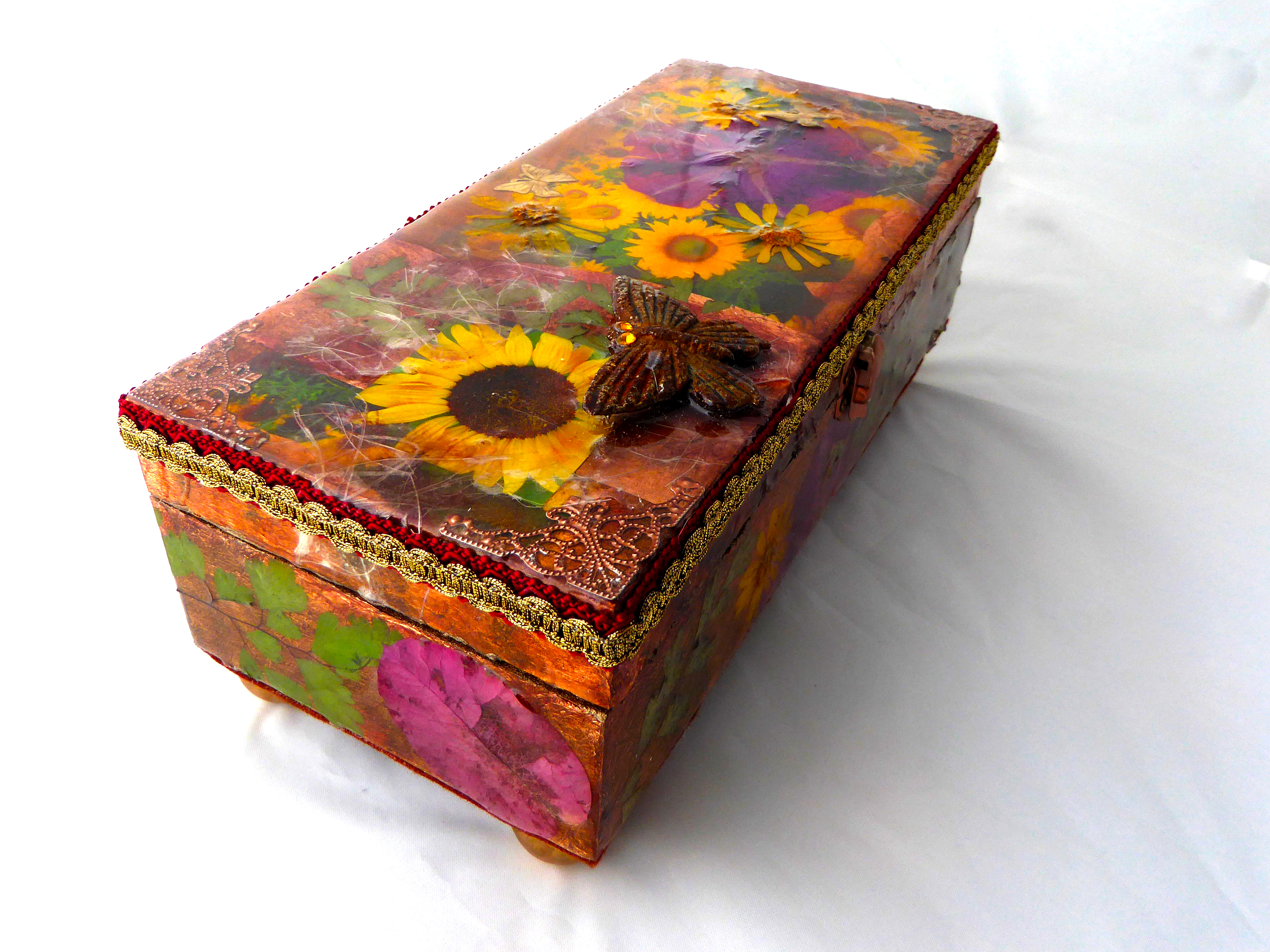 Jewelry Box - Sunflower design
