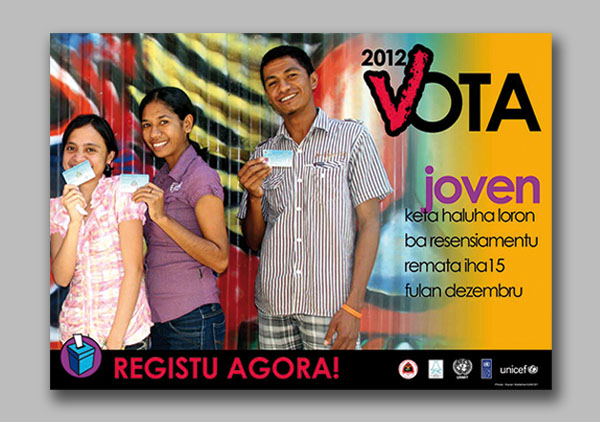 Youth registration campaign poster