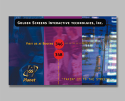 Golden Screens marketing campaign trade show exhibit poster
