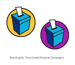 East Timor Elections branding