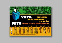 Parliament Election Women vote sticker