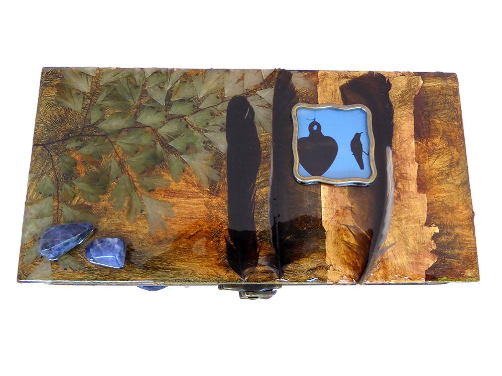 Hummingbird Jewelry Box - top view