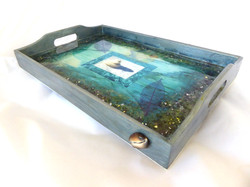 beach serving tray-side view