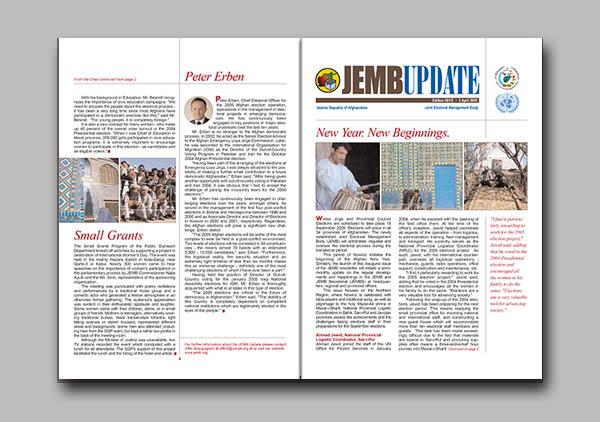 JEMB Update newsletter