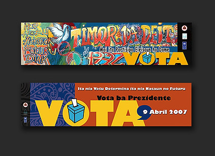 Timor-Leste Presidential & Parliament Elections 2007 - posters, leaflets, banners & stickers