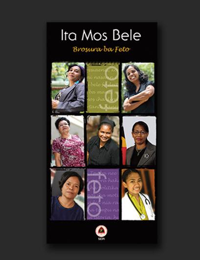 Timor-Leste SEPI Women's motivational brochure