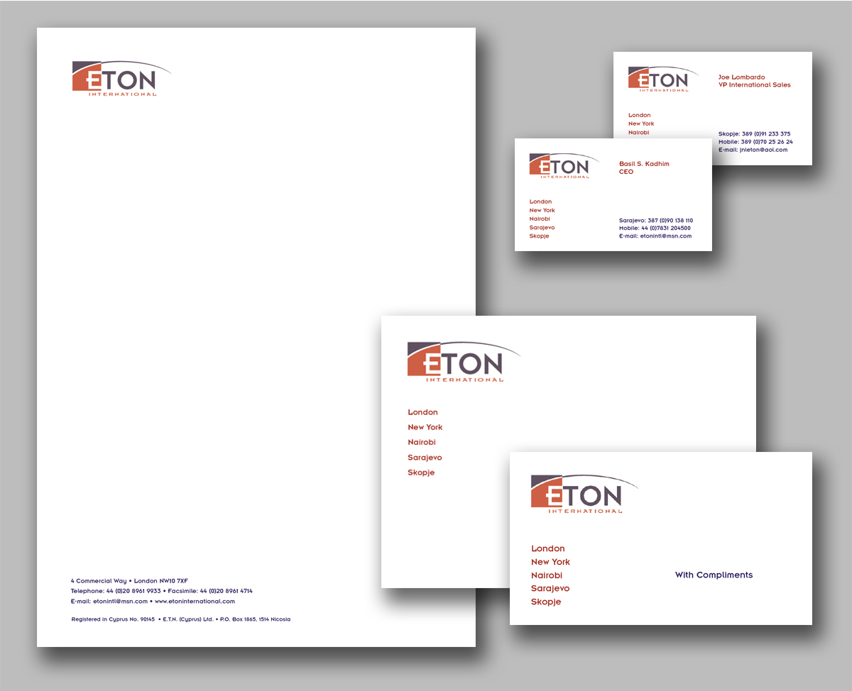 Eton International stationery system