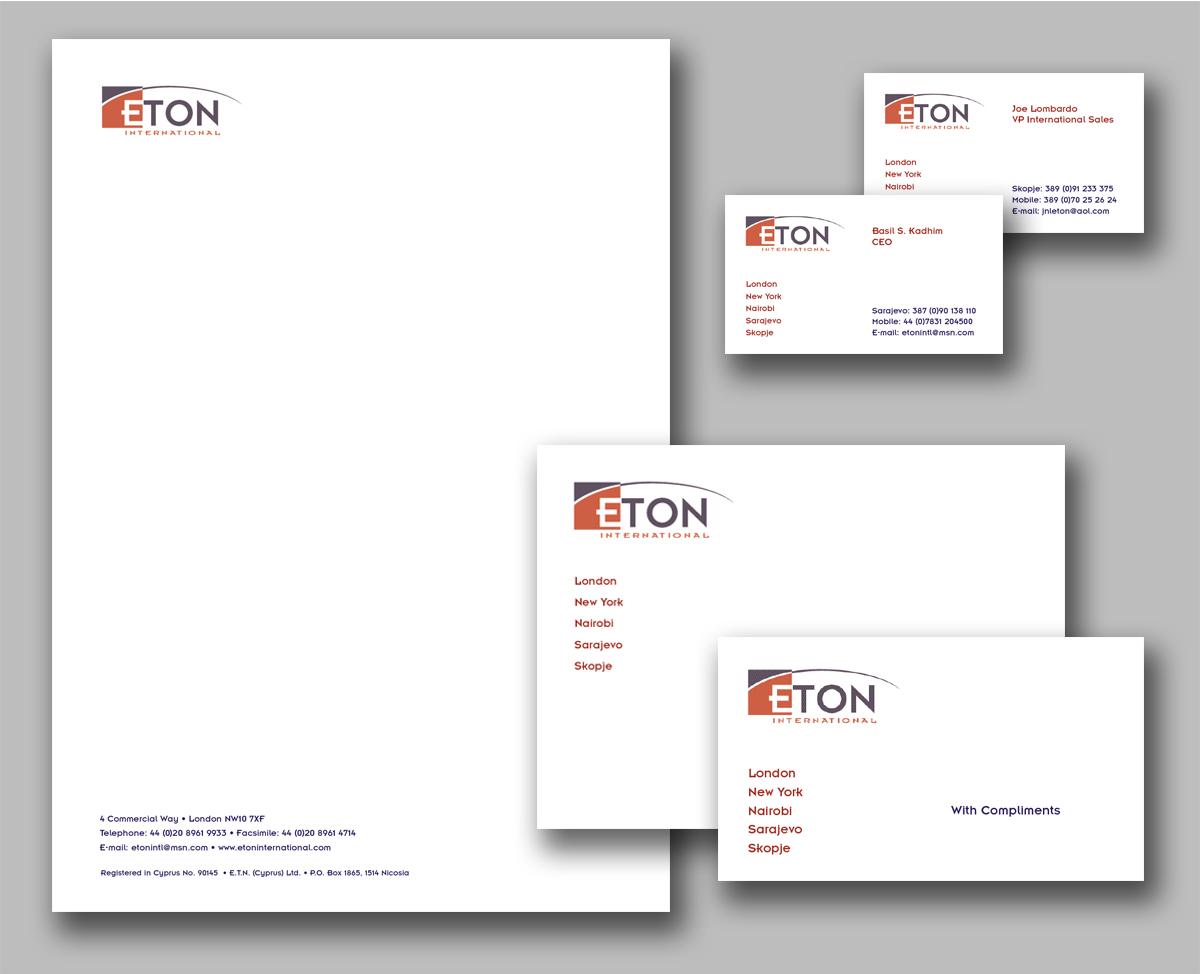 Eton International stationery system